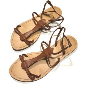 J CREW | Brown Gladiator Strappy Sandals Size 7